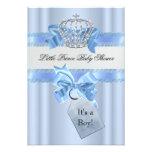 Príncipe azul Crown del muchacho de la fiesta de Invitación Personalizada