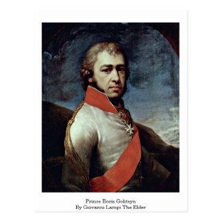 Príncipe Boris Golitsyn By Juan Lampi la anciano Postal