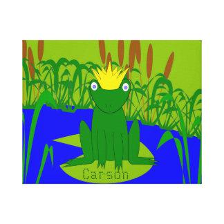 Príncipe de encargo Canvas de la rana Impresiones En Lona Estiradas