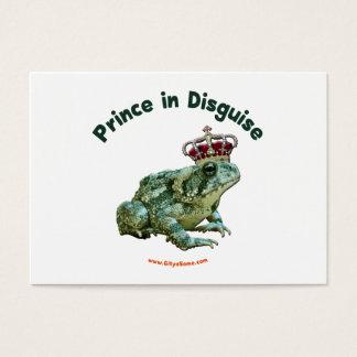 Príncipe de la rana del sapo en disfraz tarjeta de negocios