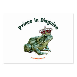 Príncipe de la rana del sapo en disfraz tarjeta de visita