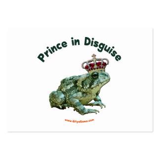 Príncipe de la rana del sapo en disfraz tarjetas de visita grandes