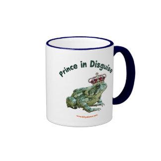 Príncipe de la rana del sapo en disfraz tazas de café