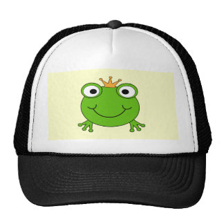 Príncipe de la rana. Rana sonriente con una corona Gorro De Camionero