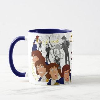 Príncipe Derek Sketch Mug con Rim&Handle coloreado Taza