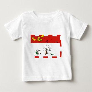 Príncipe-edward-isla-Bandera Camiseta De Bebé