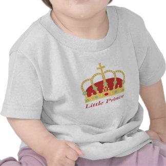 Príncipe elegante Crown con las joyas para los beb Camiseta