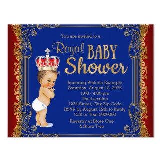Príncipe fiesta de bienvenida al bebé de los invitación 10,8 x 13,9 cm