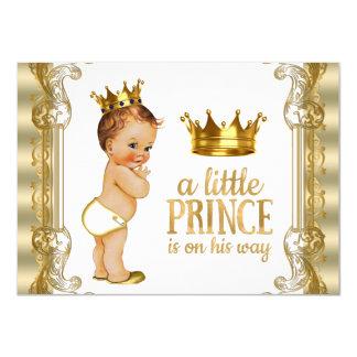 Príncipe fiesta de bienvenida al bebé invitación 11,4 x 15,8 cm