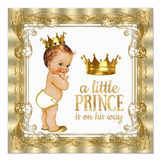 Príncipe fiesta de bienvenida al bebé invitación 13,3 cm x 13,3cm