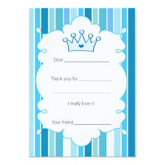 Príncipe Frog Thank You Card completa Invitación 12,7 X 17,8 Cm