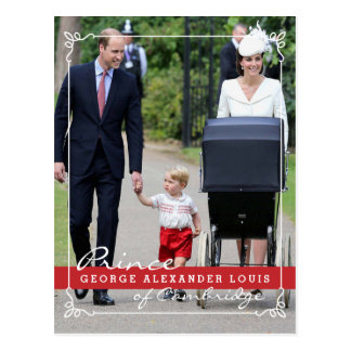 Príncipe George - princesa Charlotte - Guillermo Postal