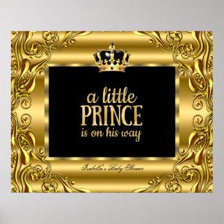 Príncipe Gold Black 3 de la fiesta de bienvenida Póster