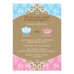 Príncipe o princesa Damask Gender Reveal Party Invitaciones Personales