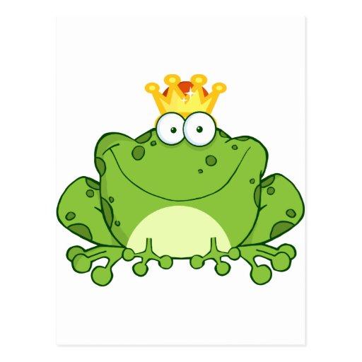 Príncipe personaje de dibujos animados de la rana  tarjetas postales