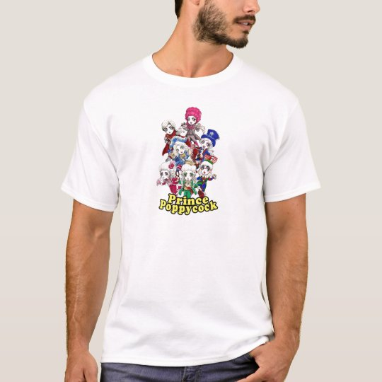 Príncipe Poppycock Chibi Party T-Shirt Camiseta