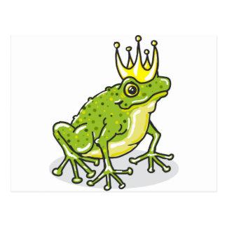 Príncipe princesa Sketch de la rana Postal