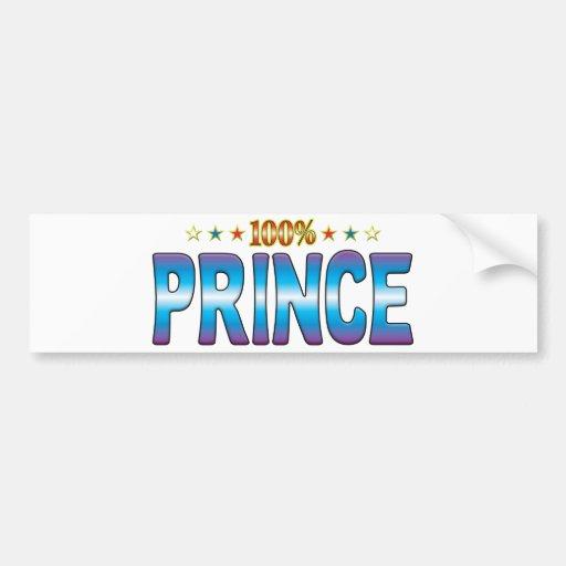 Príncipe Star Tag v2 Pegatina De Parachoque