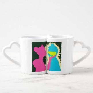 Príncipe y princesa Mugs de la rana Set De Tazas De Café