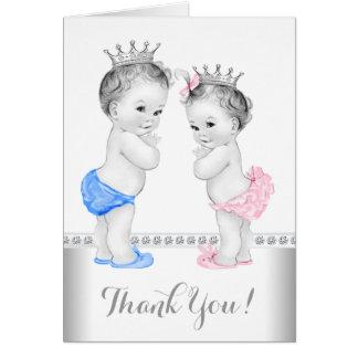 Príncipe y princesa Thank You Tarjeta Pequeña