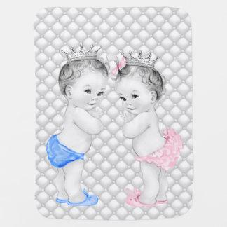 Príncipe y princesa Twin Baby Mantita Para Bebé
