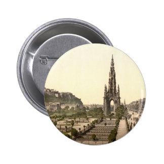 Príncipes Street, el castillo, y monumento de Scot Pin