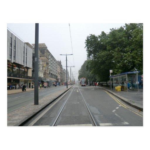 Príncipes Street septiembre de 2014 de Edimburgo Tarjeta Postal