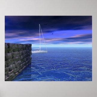 ~ Print~ de la pared de mar Póster