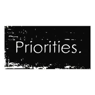 Prioridades del Grunge Tarjetas Fotográficas