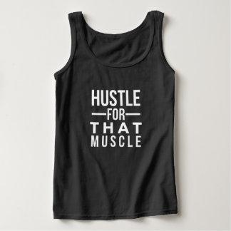 Prisa para esa camiseta del músculo