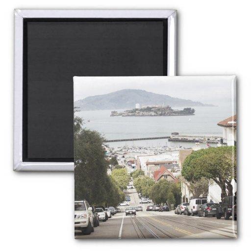 Prisión de Alcatraz vista de San Francisco Imán De Nevera