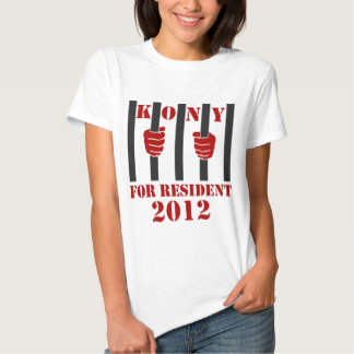 Prisión de José Kony de la parada de Kony 2012 Camisetas