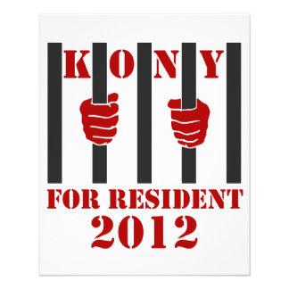 Prisión de José Kony de la parada de Kony 2012 Folleto 11,4 X 14,2 Cm