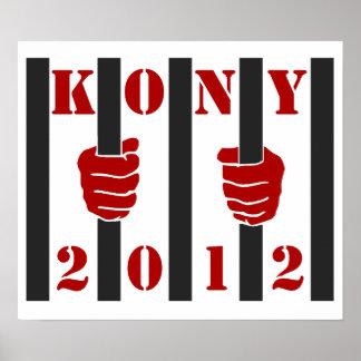 Prisión de José Kony de la parada de Kony 2012 Póster