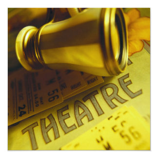Prismáticos del teatro invitacion personal