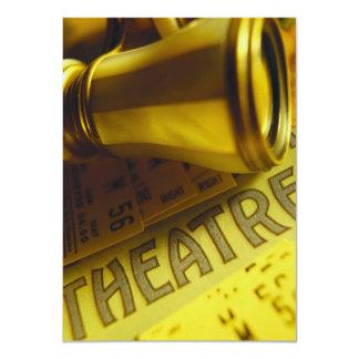 Prismáticos del teatro invitacion personalizada