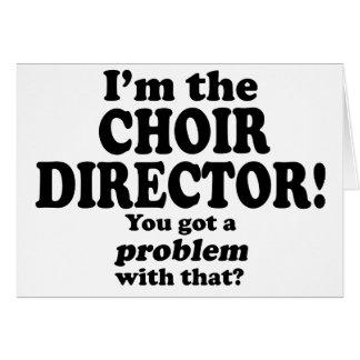 Problema con ese - director del coro tarjeton