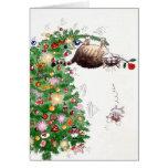 Problema del navidad tarjeta de felicitación