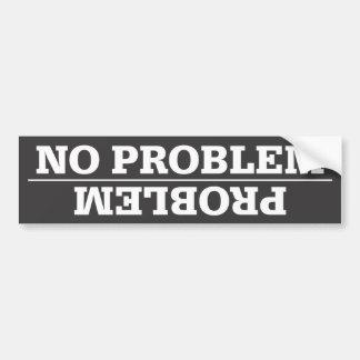 Problema/ninguna pegatina para el parachoques del  pegatina para coche