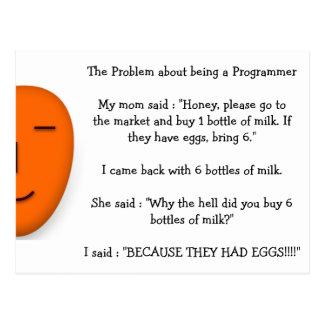 Problema sobre ser un chiste divertido de la mamá postal