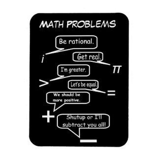 Problemas de matemáticas divertidos imán