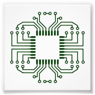 Procesador eléctrico de la placa de circuito impresiones fotograficas