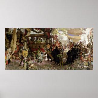 Procesión bautismal de príncipe Juan en Sevilla Posters