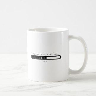 Proceso negro de la taza de café de las decisiones