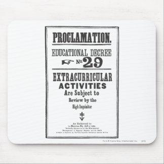 Proclamación 29 alfombrilla de ratón