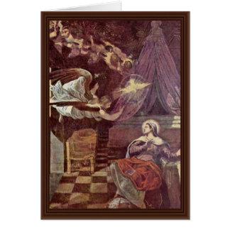 Proclamación de Tintoretto Jacopo (la mejor Tarjeta