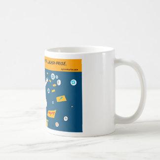 Procrastiner es saber liberar toma, mug taza básica blanca