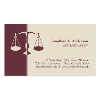 Procurador/abogado - tarjeta de visita de Borgoña