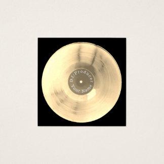 Producción de DJ del disco del disco de vinilo del Tarjeta De Visita Cuadrada