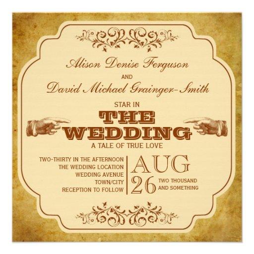 Producción del teatro del boda del vintage comunicado